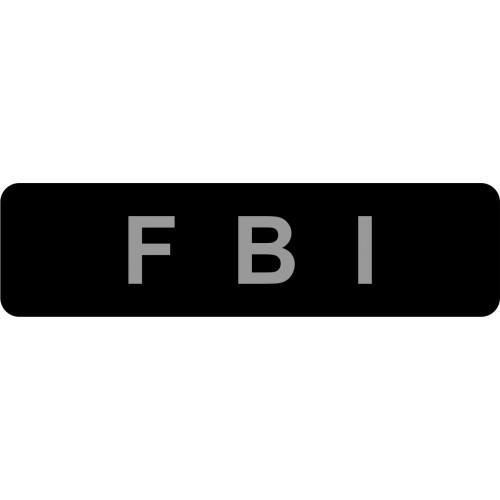 COLLAR Sticker Dog extreme FBI