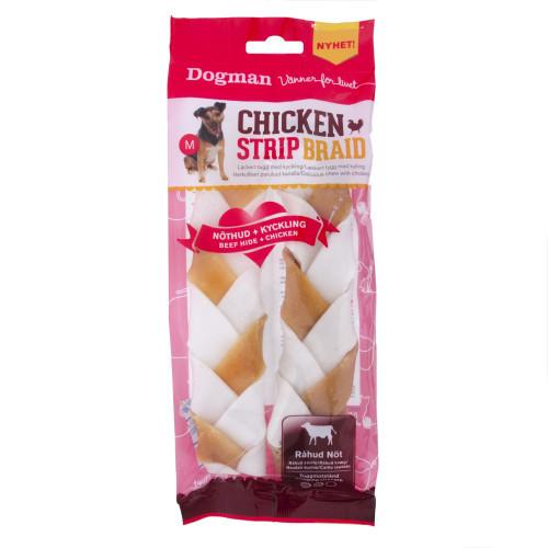 DOGMAN Chicken Strip Braid 2st  (8-pack)