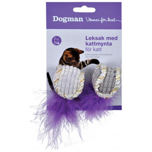 DOGMAN Boll med fjäder 2st (6-pack)