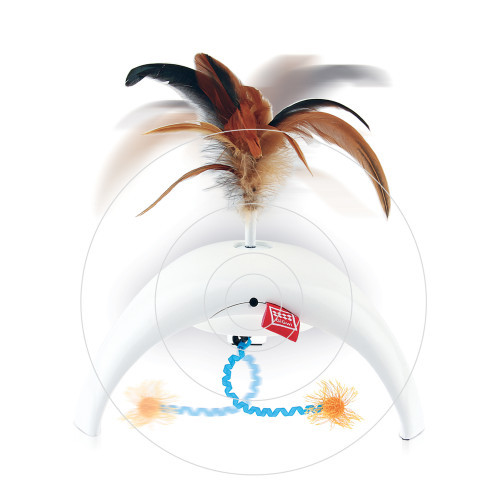 GIGWI Feather Spinner Pet Droid