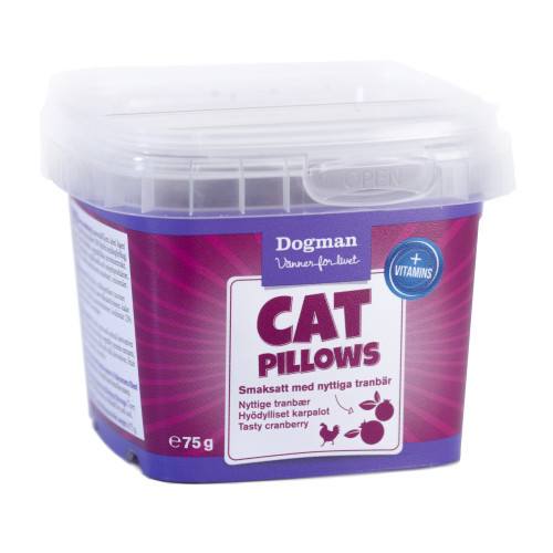 DOGMAN Cat Pillows kyckling/tranbär (6-pack)
