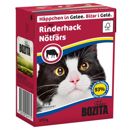 BOZITA FELINE Bitar i Gelé med Nötfärs (16-pack)
