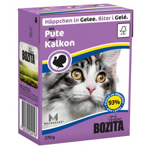 BOZITA FELINE Bitar i Gele med Kalkon (16-pack)