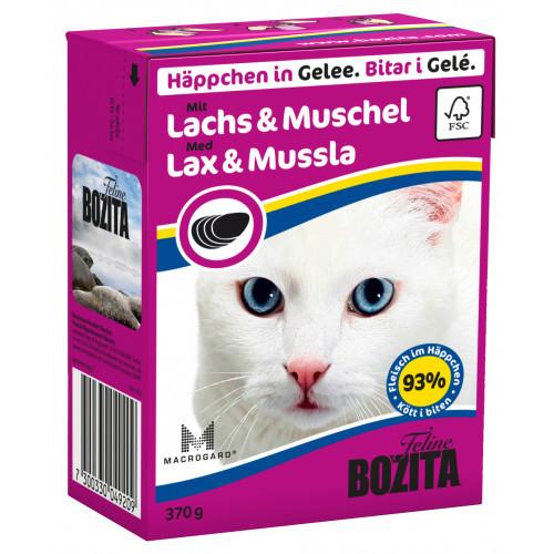 BOZITA FELINE Bitar i Gele med Lax & Mussla (16-pack)