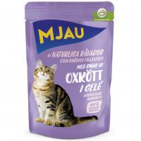 MJAU Mjau Oxkött i gelé  (22-pack)