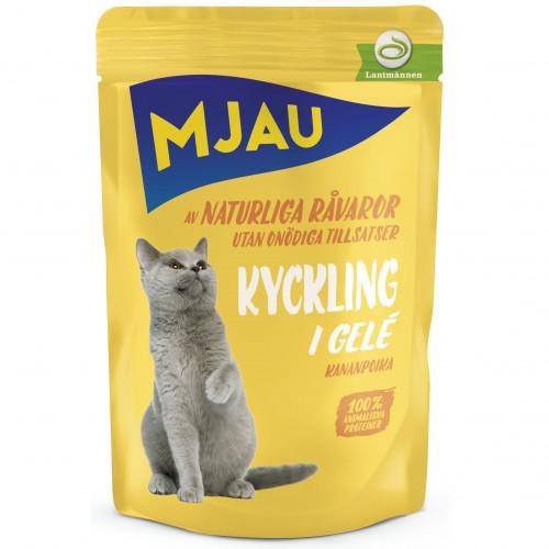 MJAU Mjau Kyckling i gelé (22-pack)