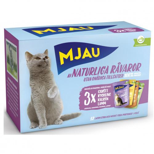MJAU Mjau Multi Kött i gelé (4-pack)