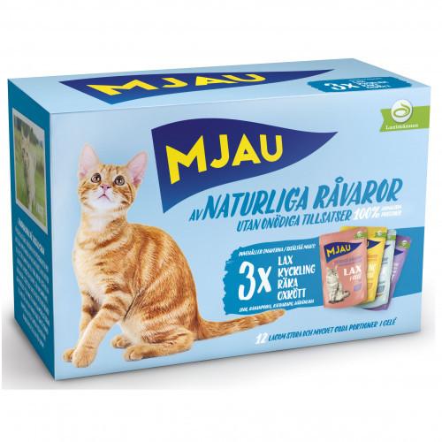 MJAU Mjau Multi Kött&Fisk i gelé (4-pack)