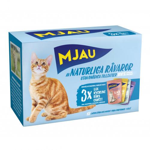 MJAU Multipack Kött och Fisk (4 lådor)