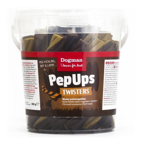 DOGMAN Pep Ups Twisters 3-smak (6-pack)