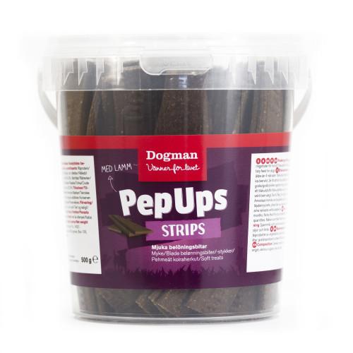 DOGMAN Pep Ups Strips lamm (6-pack)