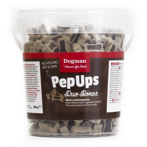DOGMAN Pep Ups Duo Bones 3-smak (6-pack)