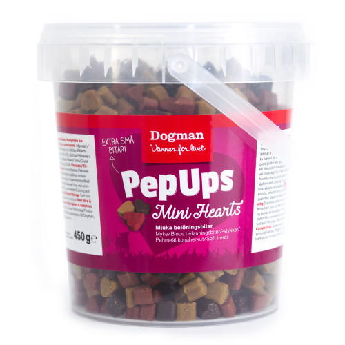 DOGMAN Pep Ups Mini Hearts Kyckl&Vilt (6-pack)