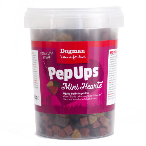 DOGMAN Pep Ups Mini Hearts Kyckl&Vilt (8-pack)