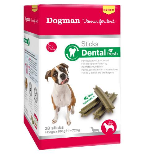 DOGMAN Sticks Dental Fresh box 28-p (6-pack)