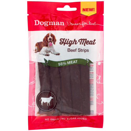 DOGMAN High meat Beef Strips (12-pack)