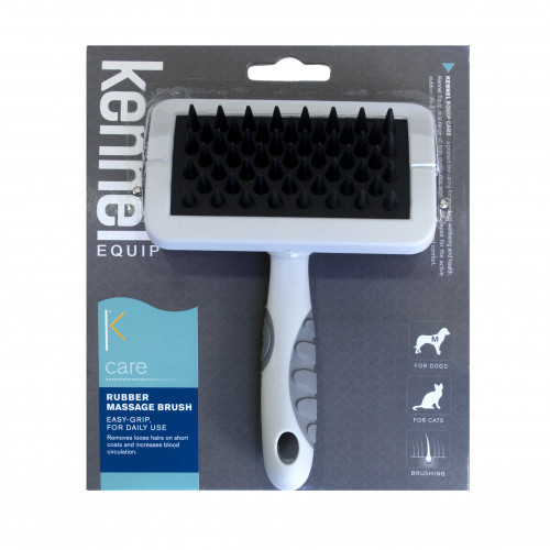 KENNEL EQUIP CARE Rubber massage brush (4-pack)