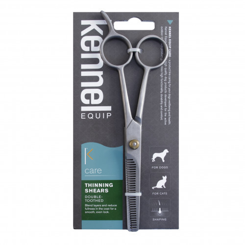 KENNEL EQUIP CARE Double-toothed thinning shears (4-pack)
