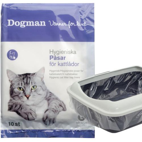 DOGMAN Påsar för kattlådor (10-pack)