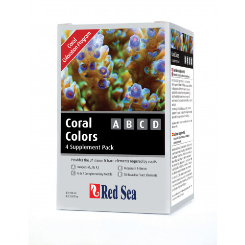 RED SEA Coral Coloration A,B,C & D