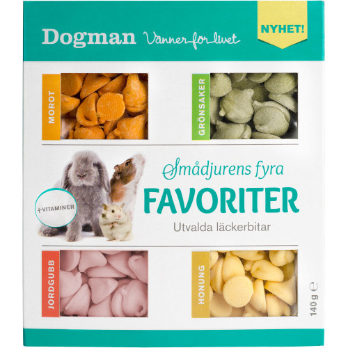 DOGMAN Smådjurens fyra favoriter (10-pack)