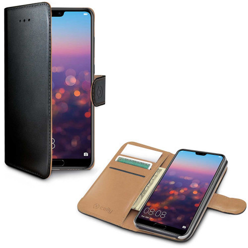 Celly Wallet Case Huawei P20 Sv/Be