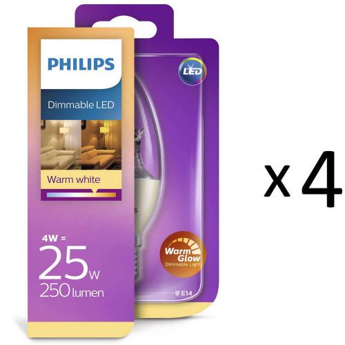 Philips LED E14 Kr 25W WarmGlow Di 4st