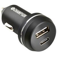 Champion USB Ladd. 12/24V Dual USB-A+C