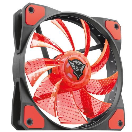 Trust GXT 762W LED silent PC fan Red