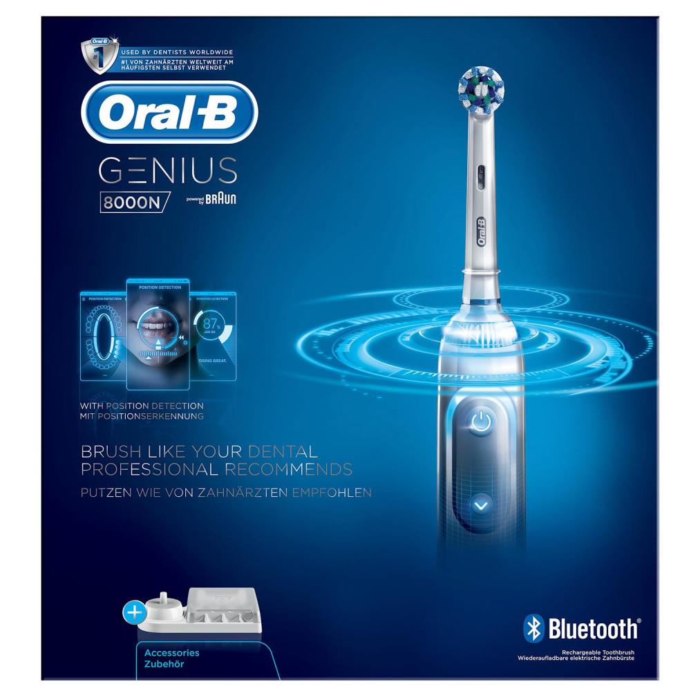 Köp Oral B Eltandborste Genius 8000N Sil. på buyersclub.se f5cecaa570672