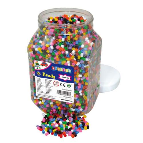 Playbox Pärlburk 15000st 10 Färgmix
