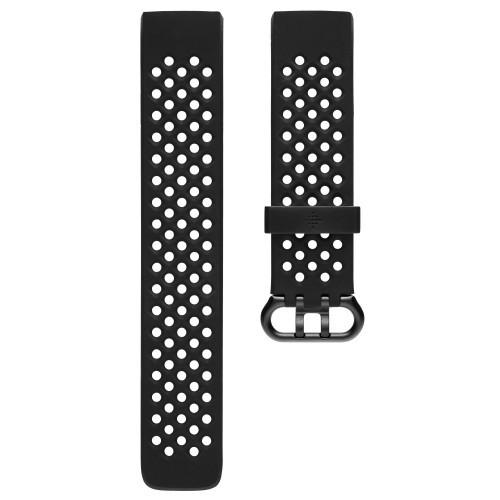 Fitbit Charge 3 Sportarmband Black L