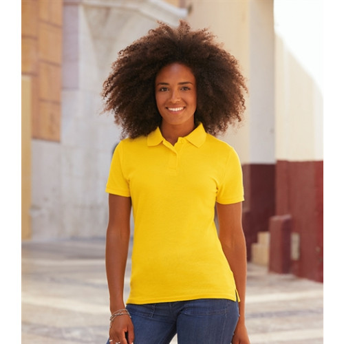 Fruit of the loom Ladies 65/35 Polo Navy