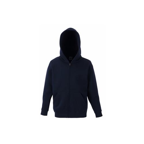 Fruit of the loom Kids Premium Hooded Sweat Jacket Deep Navy