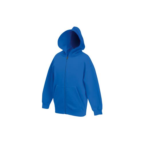 Fruit of the loom Kids Premium Hooded Sweat Jacket Royal