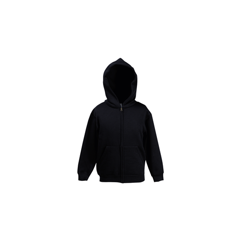 Fruit of the loom Kids Premium Hooded Sweat Jacket Black