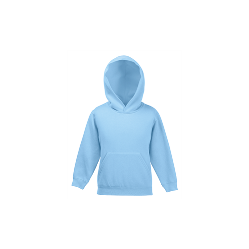 Fruit of the loom Kids Premium Hooded Sweat Sky Blue