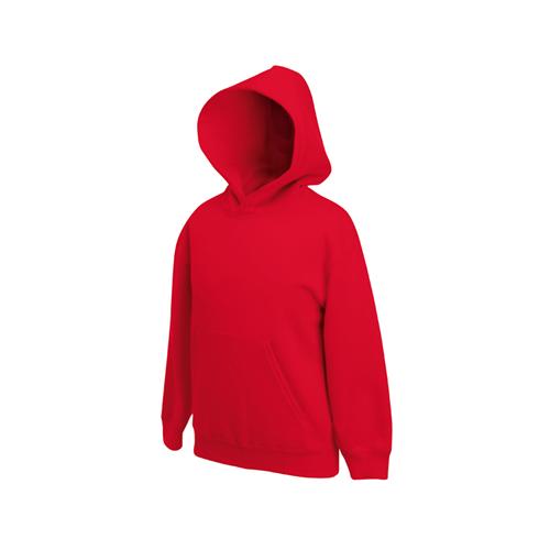 Fruit of the loom Kids Premium Hooded Sweat Red