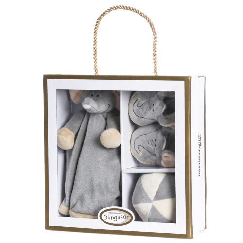 Teddykompaniet Diinglisar Wild giftbox elefa.