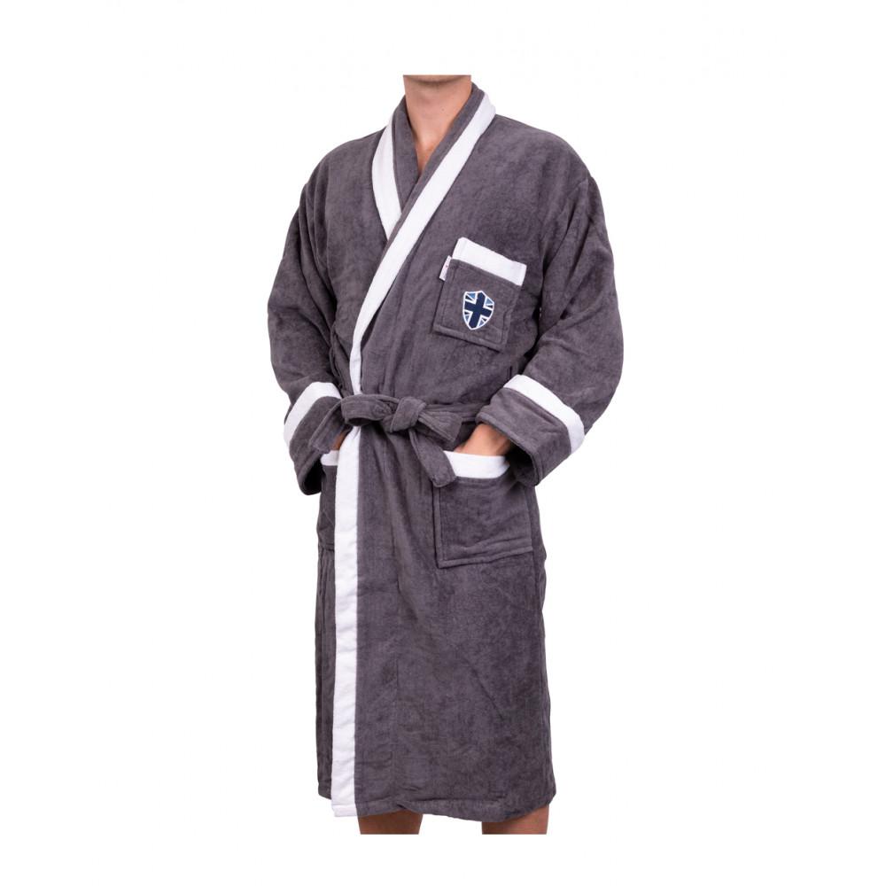 Köp Lord Nelson Velour Robe Grey L XL på buyersclub.se 9531f978b2555