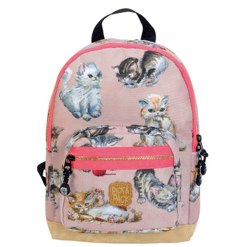 Pick & Pack Backpack small kittens rose