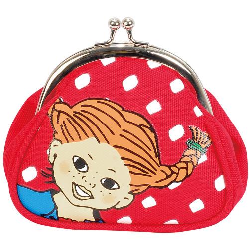 Pippi Långstrump Purse red dot