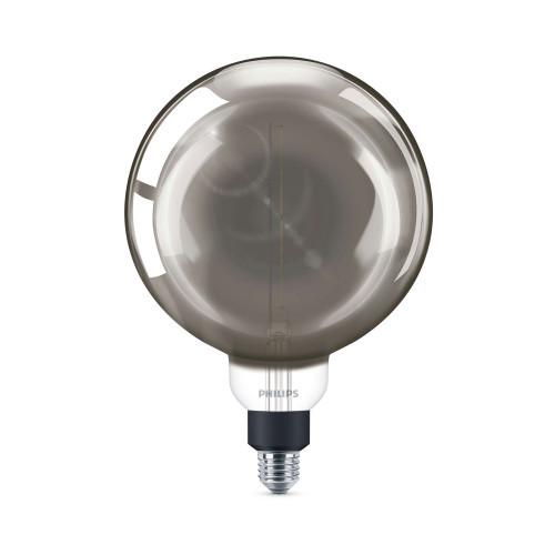 Philips LED E27 Glob 20cm Smoky dim 40