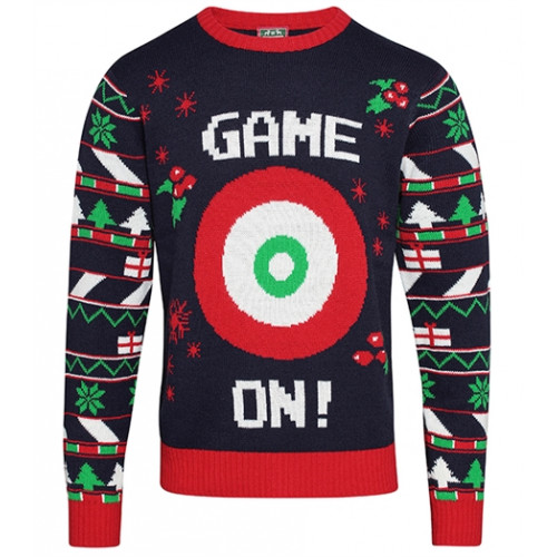 Christmas shop Adults 3D ball & Velcro® jumper Navy