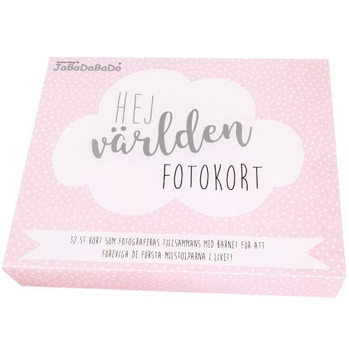 Jabadabado Milestone card rosa