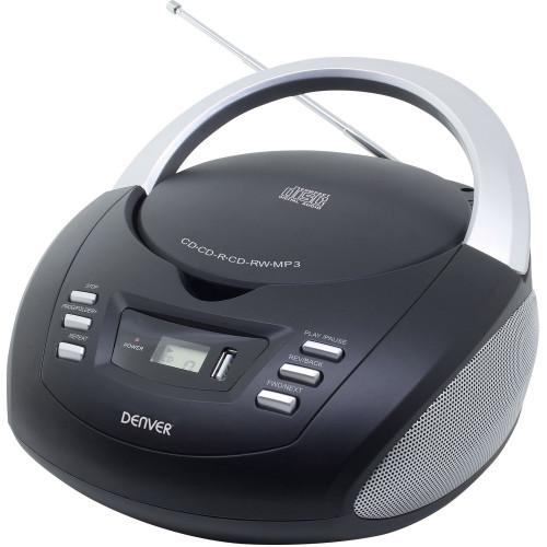 Denver CD Boombox med FM/USB Svart