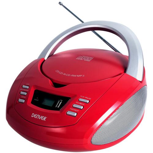 Denver CD Boombox med FM/USB Röd