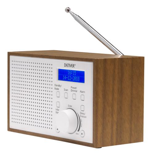 Denver FM/DAB+ Radio Trä/Vit