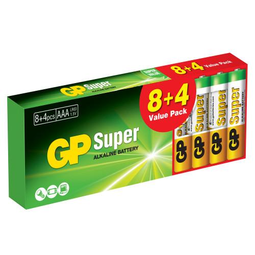 GP Super Alkaline AAA 8+4-pack