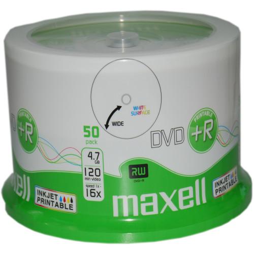 Maxell DVD+R 4,7GB InkJet Print 50st